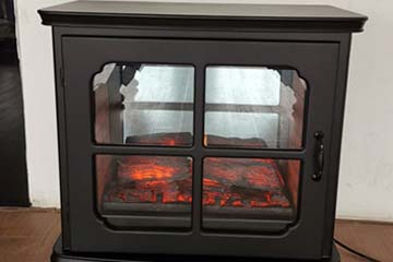 Front view of heat surge electric fireplace