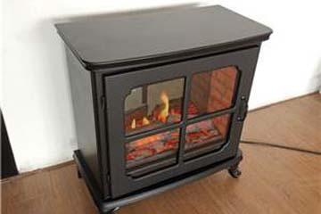 Side view of heat surge electric fireplace1