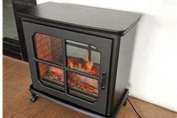 Side view of heat surge electric fireplace 3