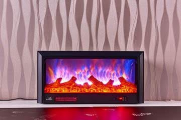 Classic blue flames electric fireplace insert