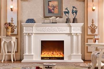 Main view tabletop electric fireplace