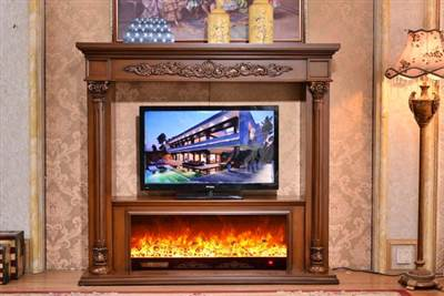 front view of duraflame electric fireplace tv stand