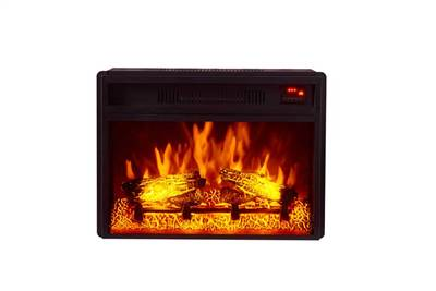 Front view of Electric Fireplace logs 1